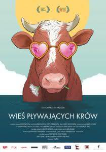 """Plakat filmu """"Wieś pływających krów"""""""